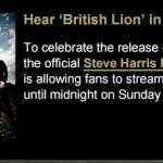 Hear Steve Harris's solo album British Lion in its entirety!
