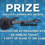 WIN AN AUTOGRAPHED IBANEZ GUITAR FROM EMMURE