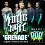 """Memphis May Fire's cover of Bruno Mars'  """"Grenade"""" is now available on iTunes!"""