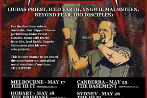 LIVE – TIM 'RIPPER' OWENS, Perth WA, 23 May 2012