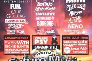 Future Entertainment, Mellen Events, Nova, Channel [V], SPA, inthemix, The Wire & Faster Louder Present The Future Music Festival 2013
