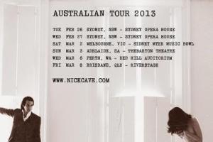 Billions Australia presents NICK CAVE & THE BAD SEEDS  Australian Tour February/March 2013