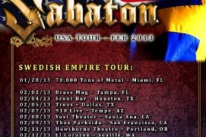 LIVE – Sabaton, San Francisco, CA, February 9, 2013
