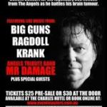 ROCK FOR DOC, featuring Mr Damage, with Krank, Ragdoll & Big Guns – 28 Jan 2013