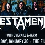 LIVE – Testament, San Francisco, CA, January 30, 2013