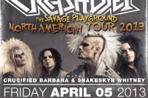 LIVE – CrashDiet: The Savage Playground Tour, April 5 2013
