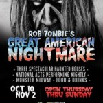 Rob Zombie's Great American Nightmare: Once In A Lifetime Halloween Event Curated By Zombie To Terrorize LA Every Thursday-Sunday From October 10-November 2