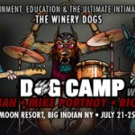 "THE WINERY DOGS (Mike Portnoy/Billy Sheehan/Richie Kotzen): ""Dog Camp"" For Aspiring Musicians Set For July 21-25 at Full Moon Resort in Big Indian, NY"