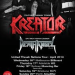 LIVE REVIEW: Death Angel and Kreator, Melbourne, 16 April 2014