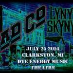 LIVE: BAD COMPANY / LYNYRD SKYNYRD – July 25, 2014 (Clarkston, MI)