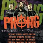 METAL LEGENDS PRONG TO TOUR AUSTRALIA FOR THE FIRST TIME IN NOVEMBER