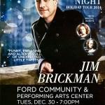 LIVE: JIM BRICKMAN – December 30, 2014 (Dearborn, MI)