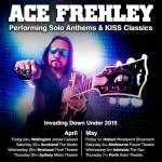 ACE FREHLEY announces 'Invading Down Under' tour April / May 2015