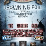 LIVE: DROWNING POOL – December 6, 2016 (Flint, MI)
