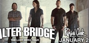 LIVE: ALTER BRIDGE – THE LAST HERO TOUR wsg Nonpoint – January 24, 2017 (Royal Oak, MI)