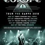 EUROPE touring Australia for the first time ever in 2018