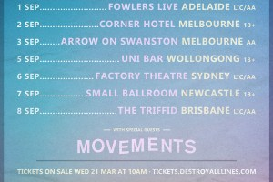 Moose Blood Announce 2018 Australian Tour With Special Guests Movements