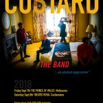 CUSTARD go transcontinental… touring Australia in September 2018