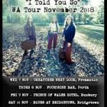 "LITTLE QUIRKS ""I Told You So"" WA Tour – November 2018"