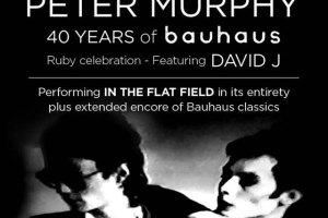 PETER MURPHY 40 Years of Bauhuas Ruby Celebration Featuring David J Tour