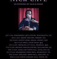 Nick Cave brings CONVERSATIONS WITH NICK CAVE speaking events to Australia & New Zealand