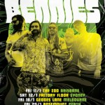 THE BENNIES AUSTRALIAN TOUR KICKS OFF JANUARY 11TH