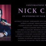 LIVE: Conversations with Nick Cave – Perth, 23 Jan, 2019