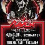 LIVE: RAVEN with Shadow Realm and Sky Hammer – Adelaide, 1 July, 2019