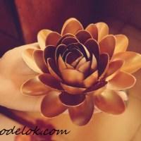 Цветок из ложек