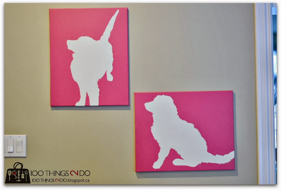 Create custom canvas art - dog silhouette