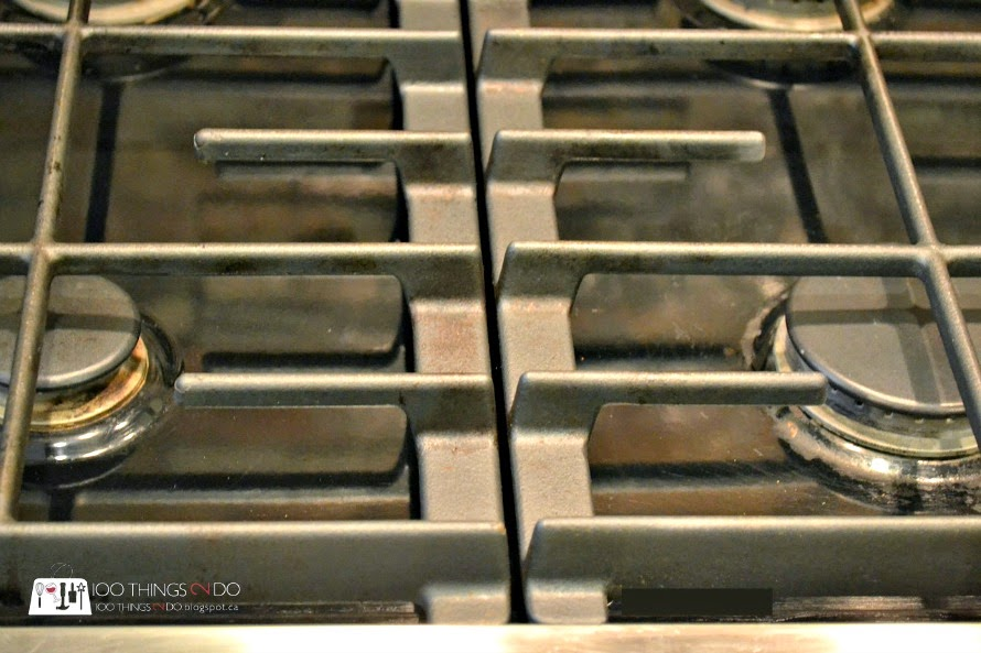 how to clean commercial stove grates