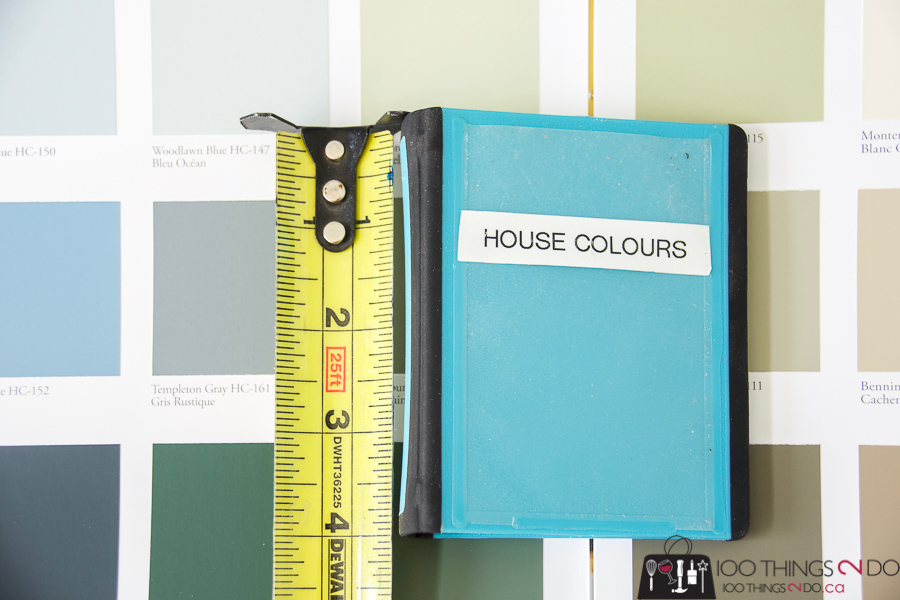 How to keep track of paint colors, How to keep track of paint colours, keep track of paint colours, keep track of house colors, micro-binder