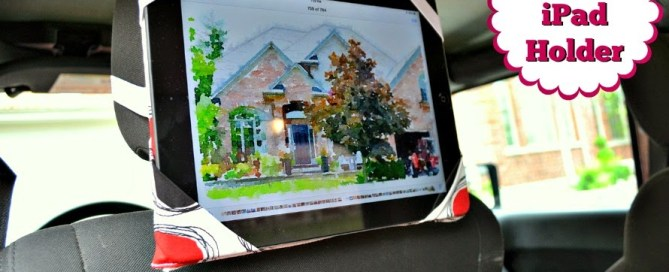 Make your own iPad holder for road trip entertainment
