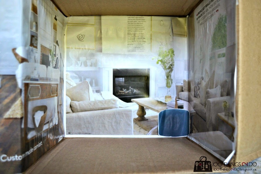 Kid's crafts - make your own dollhouse from a cardboard box and magazine clippings!
