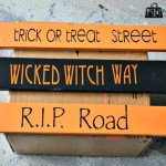 Build your own Hallowe'en street sign