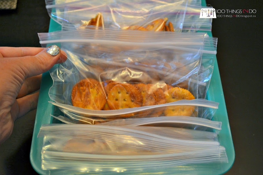 Create a snack station with pre-portioned treats so the kids can make healthy choices