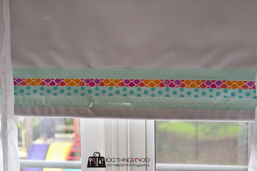 Washi tape blinds