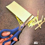 Use sandpaper to sharpen your scissors and cutters