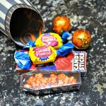 Sour cream containers - cute packaging for Hallowe'en treats
