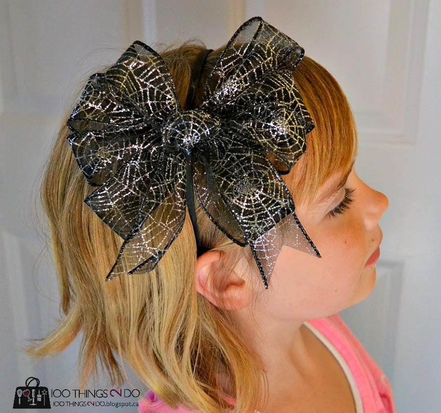 How to make a large bow for a head band