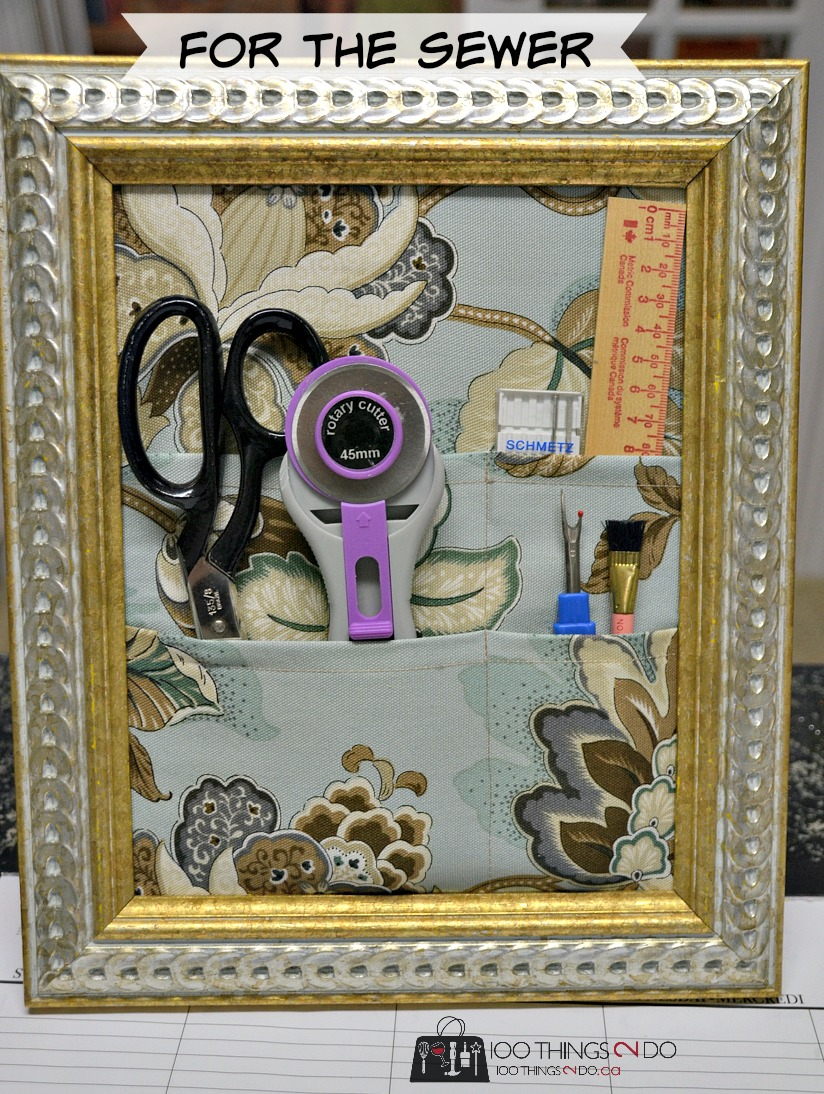 Desk Organizer From A Repurposed Frame 100 Things 2 Do
