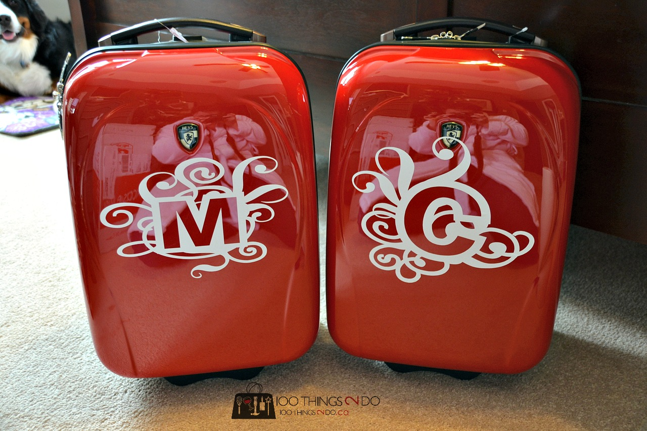 Monogram your own luggage