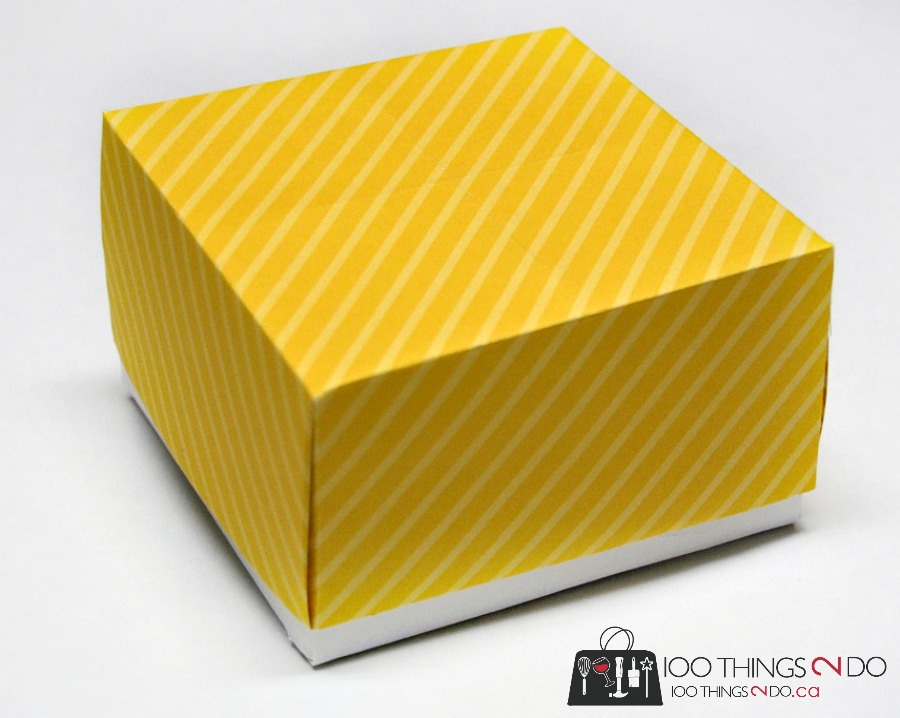 Origami gift box, sunshine box, send a box of sunshine, care package