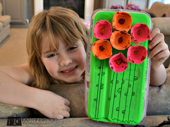 Egg carton crafts with kids