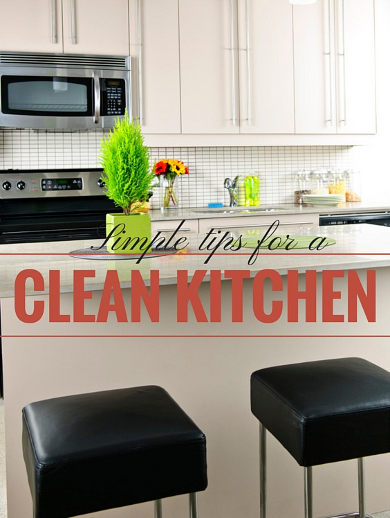 Simple tips for a clean kitchen, clean kitchen check-list, prep your kitchen the night before, easy mornings with a clean kitchen