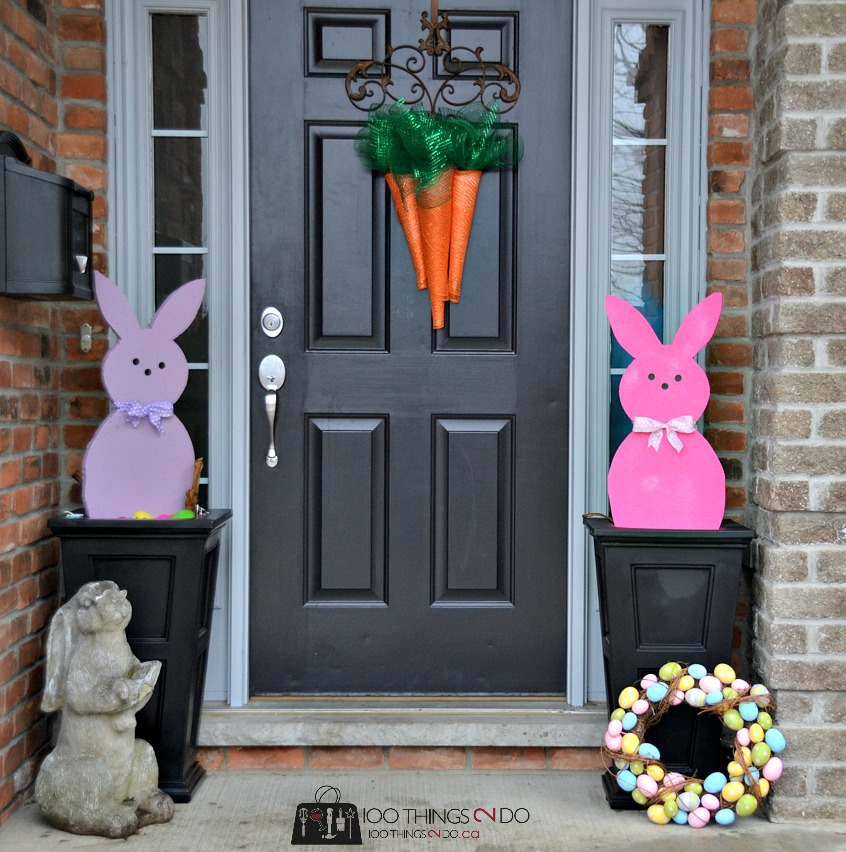 Styrofoam Peeps decor - Easter decor