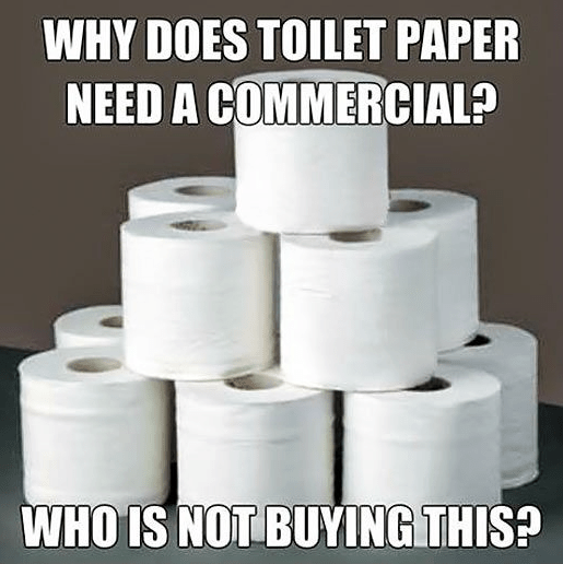 Too funny:  Toilet paper