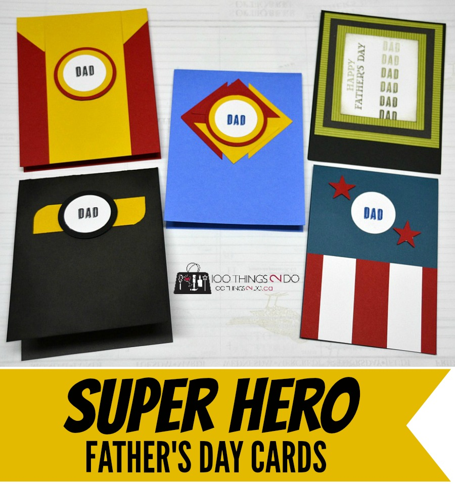 Super Hero Father's Day cards