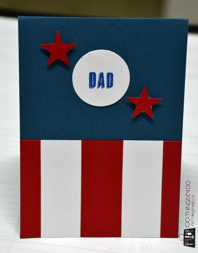 Superhero Father's Day cards - Captain America