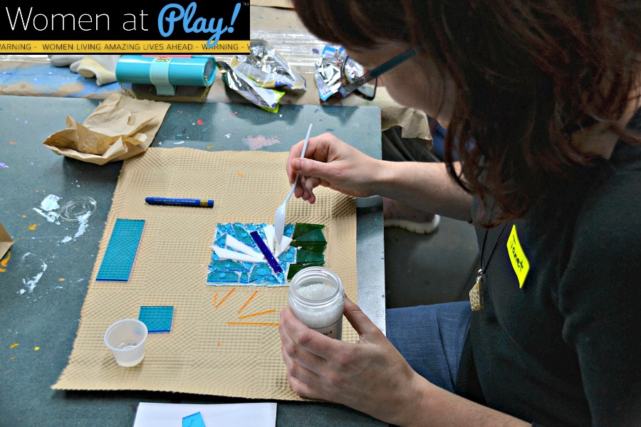 Learning to work with glass - Women At Play